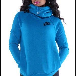 Nike Rally Funnel Blue Hoodie Medium